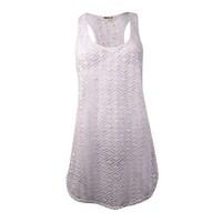 f3d371ad5d Miken Women's Crochet Tank Swim Dress Coverup (XS, White) - White - XS