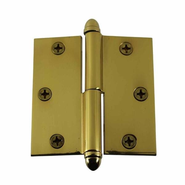 Antique Brass Lift Off Left Door Hinge 3 1/2inch Helmet Tip | Renovatoru0026#