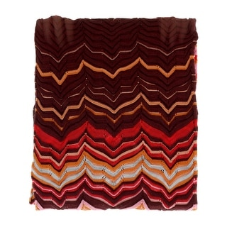 Link to Missoni Pink/Coral Long Fine Zigzag  Scarf - 16-71 Similar Items in Scarves & Wraps