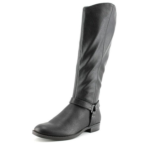 Style & Co Alix Women Round Toe Synthetic Black Mid Calf Boot