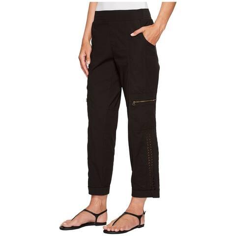 XCVI Women's Pants Black Size XS Stretch Crop Cuffed Cargo Pull-On