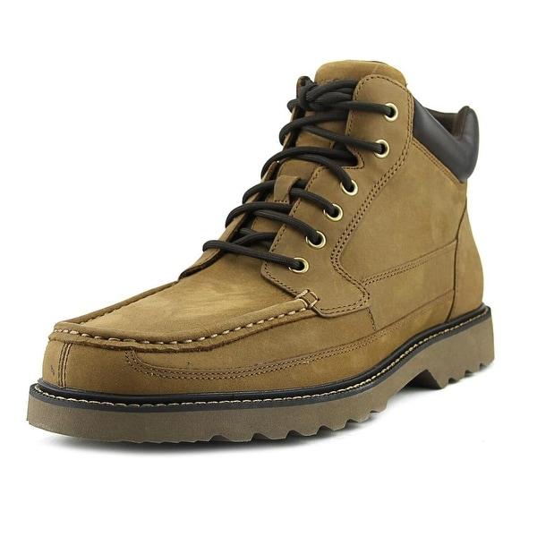 Rockport Dayhiking Moc Toe Boot Men Peanut Tan Hiking Trail Boots