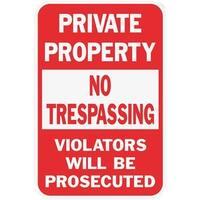 Hyko Prod. 12X18 Priv Property Sign HW-45 Unit: EACH