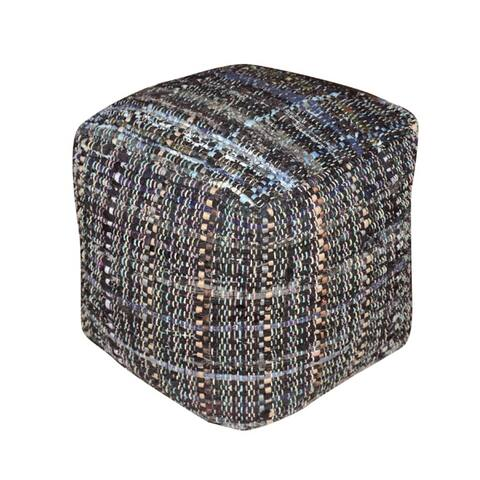 Harris Handcrafted Boho Fabric Pouf by Christopher Knight Home