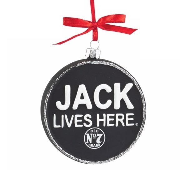 "Department 56 Jack Daniel's ""Jack Lives Here"" Glass Christmas Ornament #4052184"