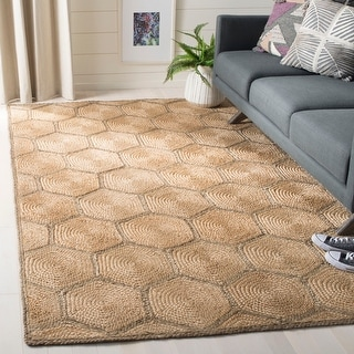 Link to Safavieh Handmade Natural Fiber Kika Honeycomb Jute Rug Similar Items in Transitional Rugs