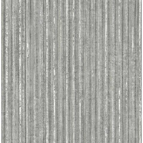 Maison Silver Maison Texture Wallpaper - 20.5in x 396in x 0.025in