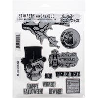 "Mr. Bones - Tim Holtz Cling Stamps 7""X8.5"""