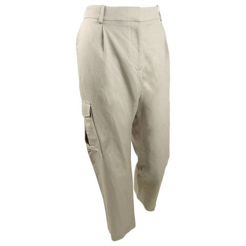 Calvin Klein Women's Cropped Cargo Pants (8, Khaki) - 8