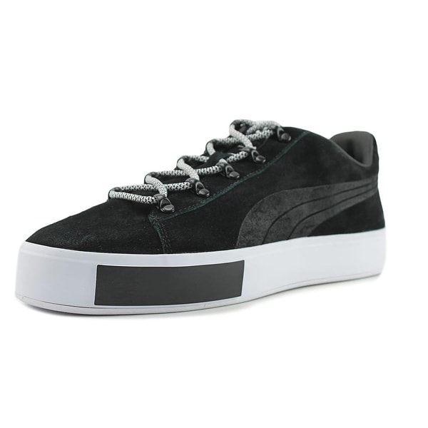 Puma Puma x DP Court Platform S Men Round Toe Suede Black Sneakers