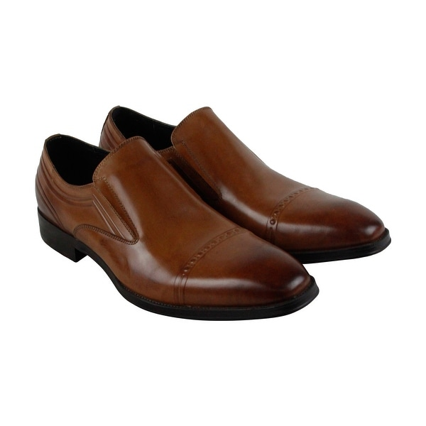 Kenneth Cole New York Change Tune Mens Brown Casual Dress Loafers Shoes