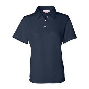 FeatherLite Women's Moisture Free Mesh Sport Shirt - Navy - L