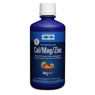 Trace Minerals Research 32-ounce Liquid Cal/Mag/Zinc Dietary Supplement