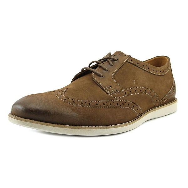 Clarks Raharto Wing Men Wingtip Toe Leather Brown Oxford