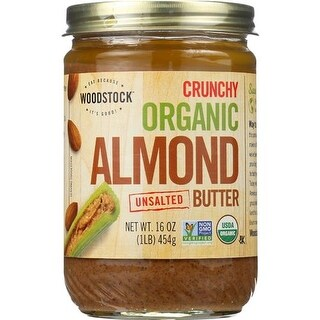 Woodstock Farms - Unsalted Organic Crunchy Almond Butter ( 12 - 16 OZ)