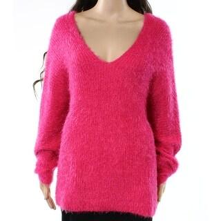 Woven Heart Womens Medium V-Neck Eyelash Knit Sweater