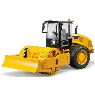 Bruder 02451 Caterpillar Vibratory Soil Compactor with Leveling Blade Toy