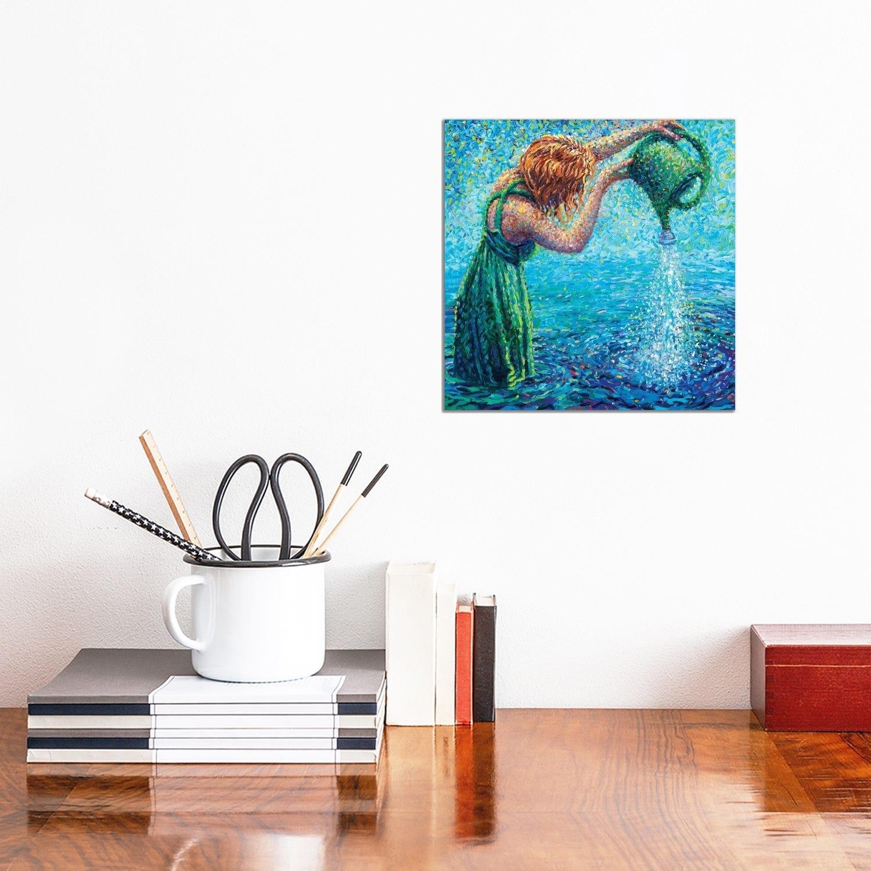 Icanvas Thirsty Koi Triptych Panel Ii By Iris Scott Canvas Print Overstock 25642669