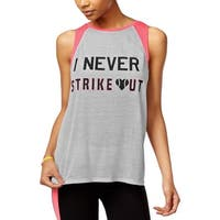 Material Girl Womens Tank Top Slogan Workout
