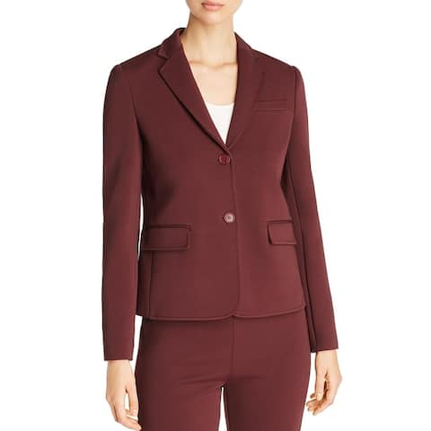 BOSS Hugo Boss Womens Jomanda Two-Button Blazer Textured Professional - Dark Red