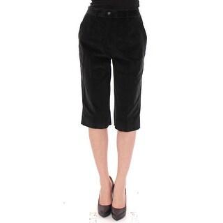 Dolce & Gabbana Black cotton shorts pants - it44-l
