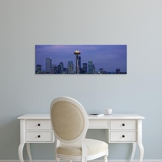 Easy Art Prints Panoramic Images's 'Seattle, Washington skyline' Premium Canvas Art