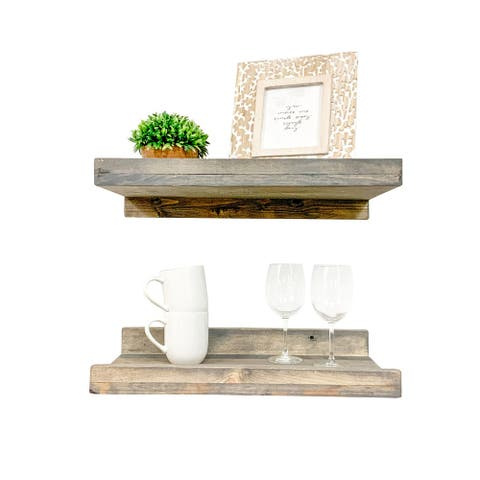 Rustic Luxe Shelves, 20-inch Set of 2