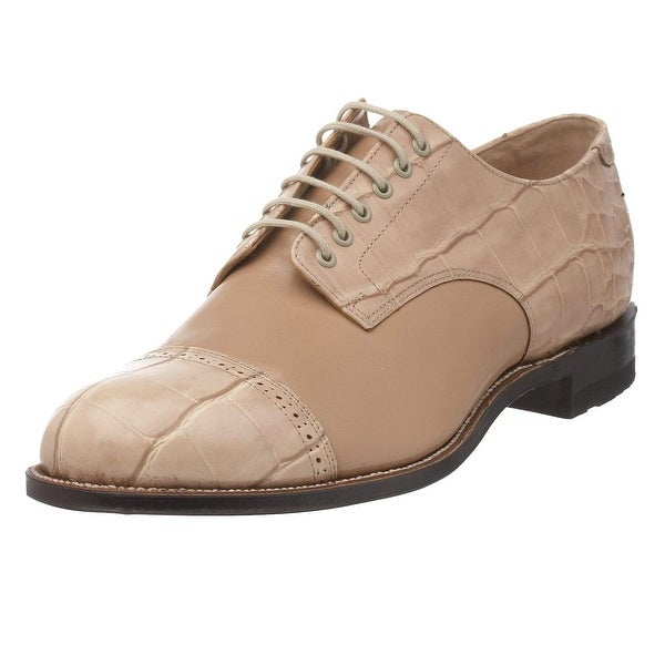 Stacy Adams Men's Madison Croco Cap-Toe Oxford, Taupe - 042, Size 10.5 - taupe - 042
