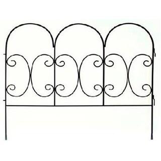 87402 Black Decorative Scroll Fence Panel
