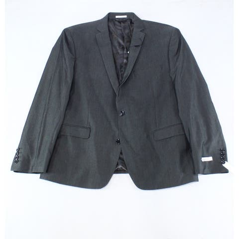 Bar III Mens Jacket Gray Size 44S Short Stretch UV Protection Slim Fit