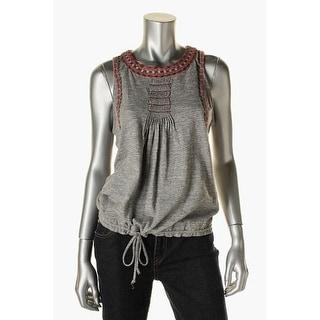 Lucky Brand Womens Cotton Sleeveless Casual Top - M