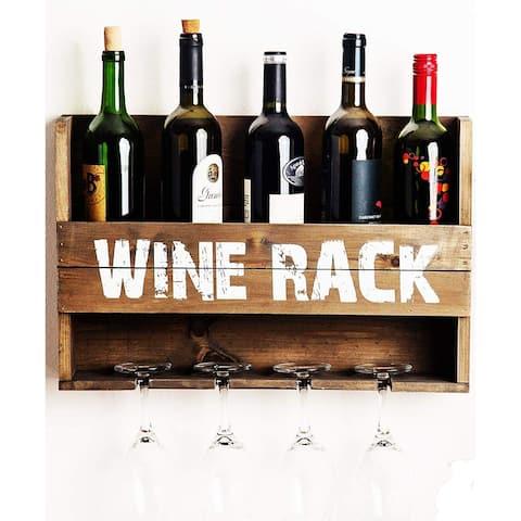 Palais Essentials Casier a Vin Collection Wooden Wine Shelf