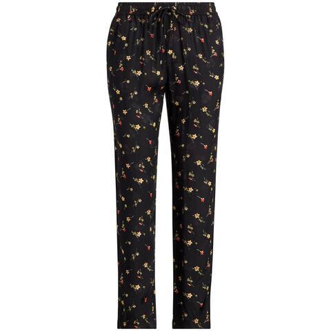 Ralph Lauren Womens Floral Skinny Casual Trouser Pants