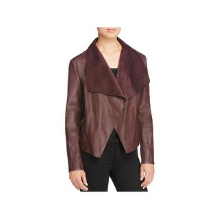 Bagatelle Womens Basic Jacket Asymmetric Faux Leather (4 options available)
