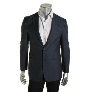 M151 Mens Double Vent Lined Two-Button Suit Jacket - M