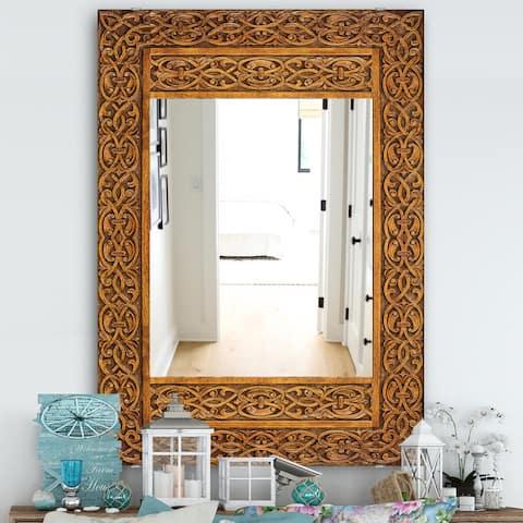 Designart 'Old Door' Traditional Mirror - Decorative Mirror