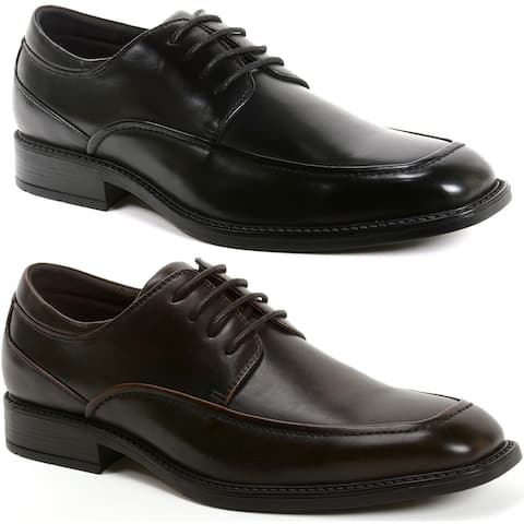 Alpine Swiss Claro Mens Oxfords Suede Lined Classic Lace Up Derby Dress Shoes - Brown