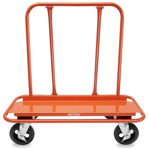 Drywall Sheet Cart & Panel Dolly w/ 4 Swivel Wheels, Orange - GypTool - 4 Swivel Wheels