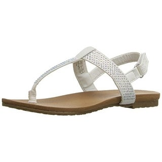 Kenneth Cole Reaction Girls Tracey Rhinestone Flat Sandals - 13