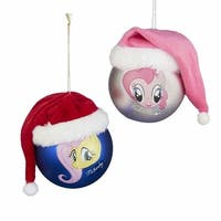 My Little Pony Pinky Pie & Rarity Ball Shatterproof Ornament Set