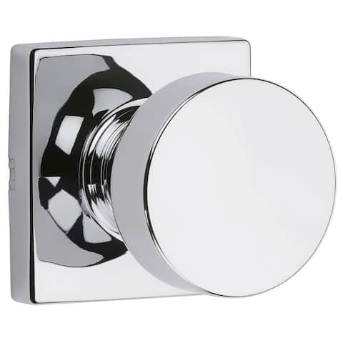 Kwikset 720PSKSQT Pismo Passage Door Knob Set with Square Rose