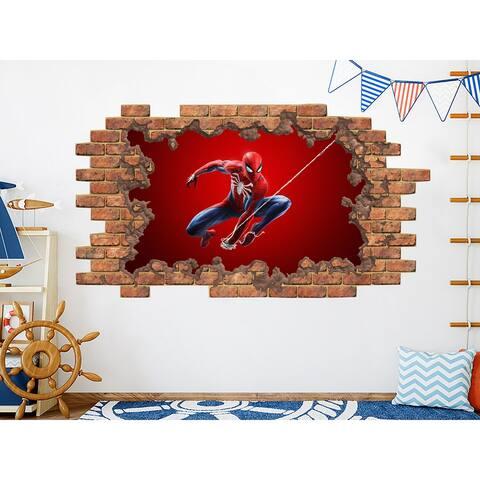 Superhero Spiderman Vinyl Sticker Murals Boys Room Decor