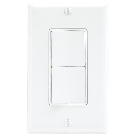 Air King AKS2 Double Rocker Switch for Select Air King Exhaust Fans