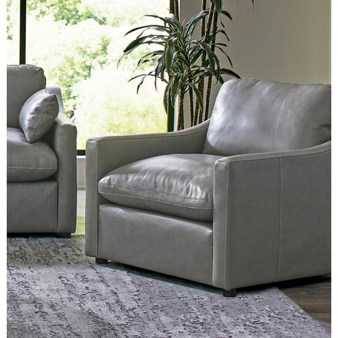 Grayson Grey Sloped Arm Upholstered Chair