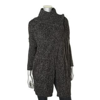 Aqua Womens Asymmetric Cocoon Sweater - S