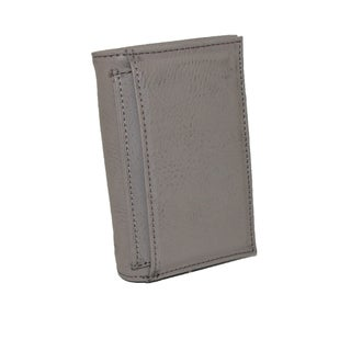 Buxton Men's Leather RFID ID Trifold Travel Wallet - One size (Option: smoke)