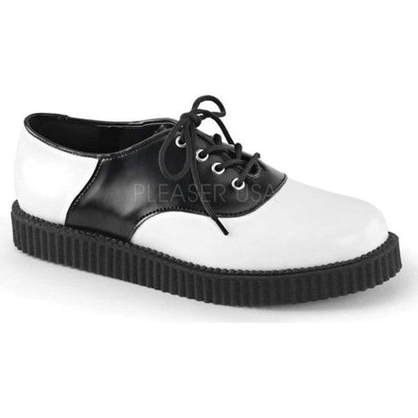 Demonia Creeper 606 Saddle Creeper White/Black Leather