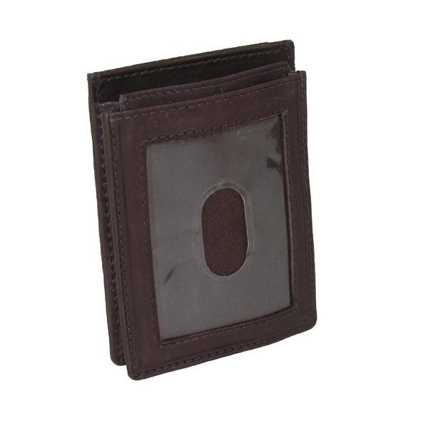 New Paul /& Taylor Men/'s Leather Front Pocket Credit Card ID Holder Wallet