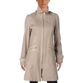 Via Spiga Womens Raincoat Fall Jacket