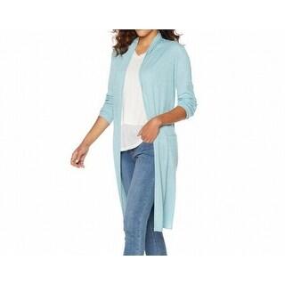 G By Giuliana NEW Blue Womens Size Medium M Boyfriend Cardigan Sweater